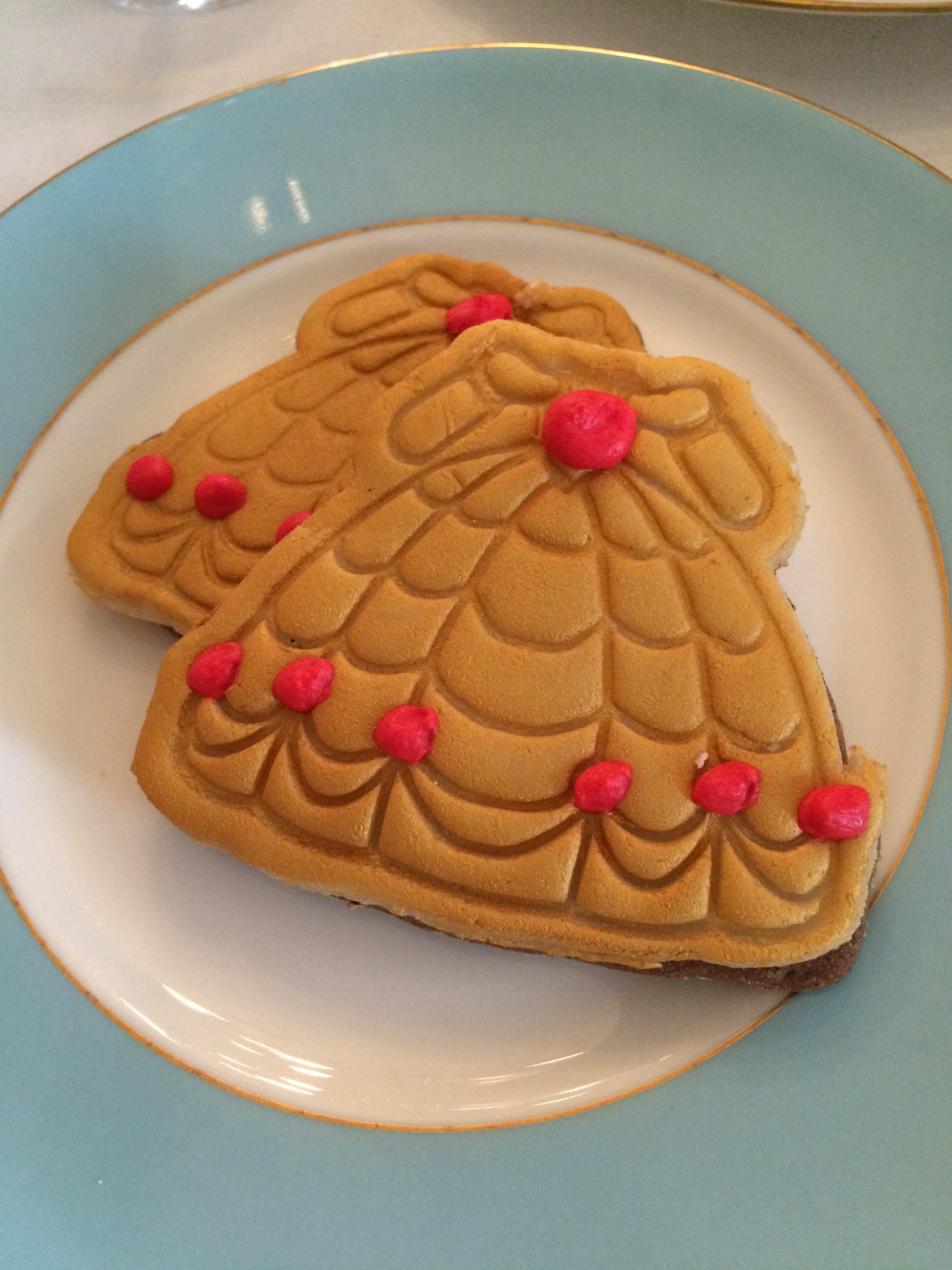 Belle's dress as a biscuit