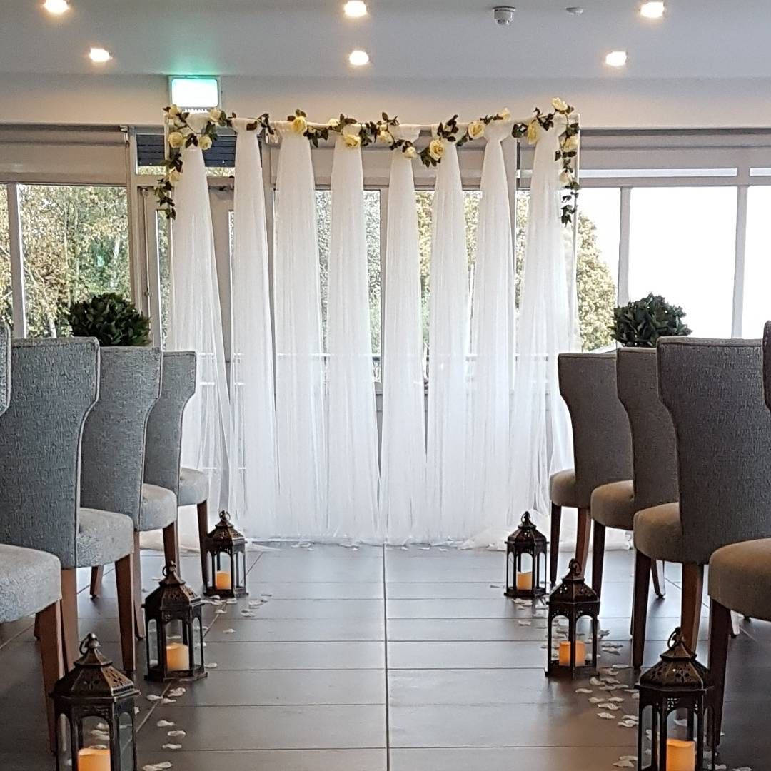 Our wedding backdrop, available to hire