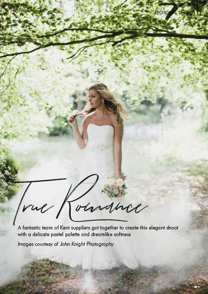 Your Kent Wedding Magazine-Nov/Dec 2018 - A fantastic shoot that I planned and styled in May 2018 was featured as a Regional Shoot in the November/December 2018 issue of Your Kent Wedding Magazine.The theme was romance, and was showcased with different dresses, hairstyles and make-up, with stunning flowers and decor highlighting the romantic tones throughout.