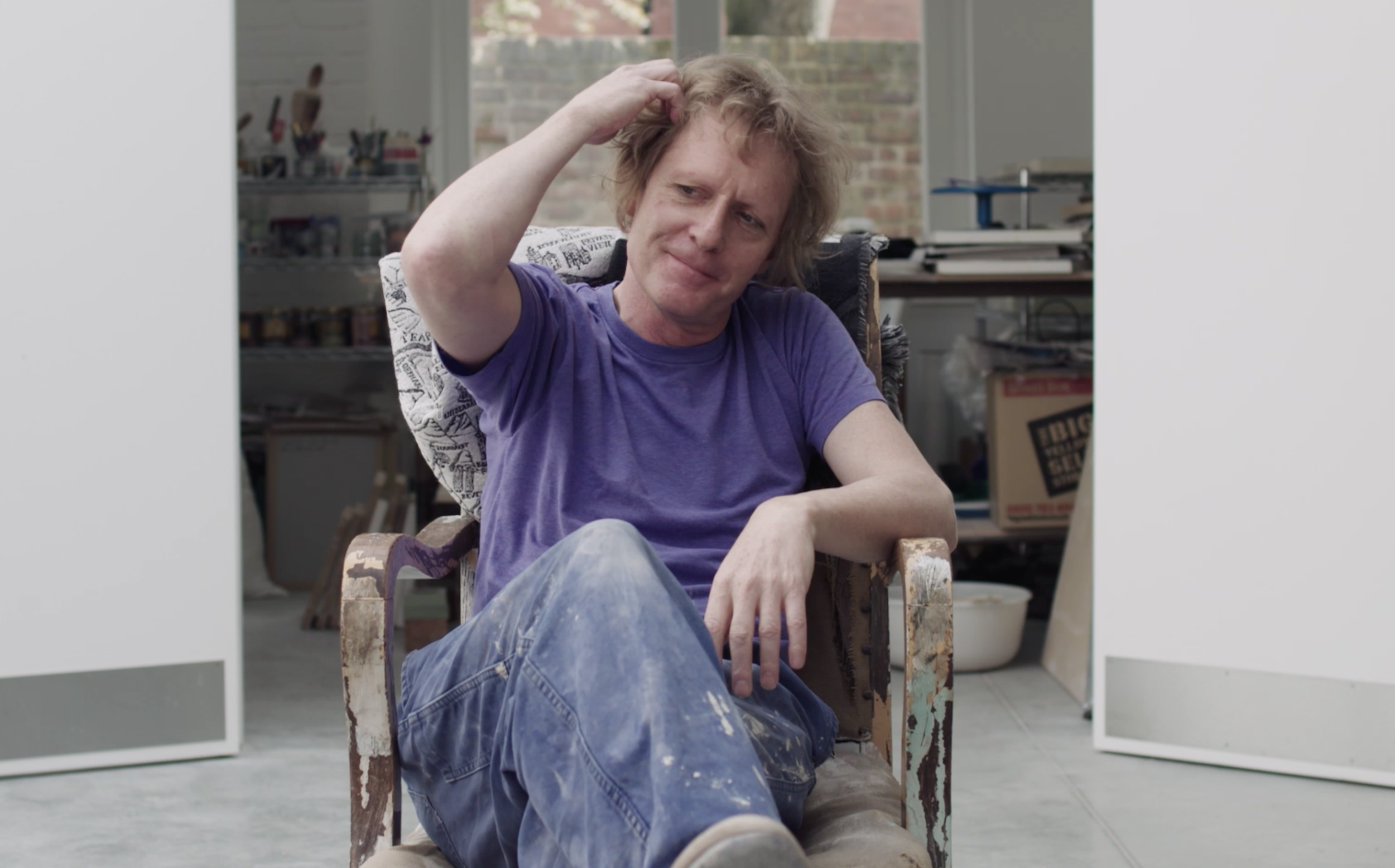 Grayson Perry promotes an exhibition in a purpose-made trailer