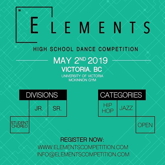 WE'RE BACK FOR YEAR 2!!! Registration is now live online for Victoria's ONLY high school dance competition. 🏆 #Elements2019