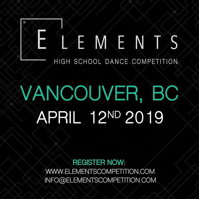 EXCITING NEWS: We've added a VANCOUVER stop for 2019!!! Registration is now live online. Save the date & Stay tuned for more info. 🏆  #Elements2019