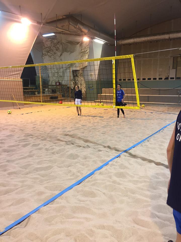 Spillerne var fornøyd med årets første Norgescup på sand. Bilde er fra en treningsøkt tidligere i vinter.