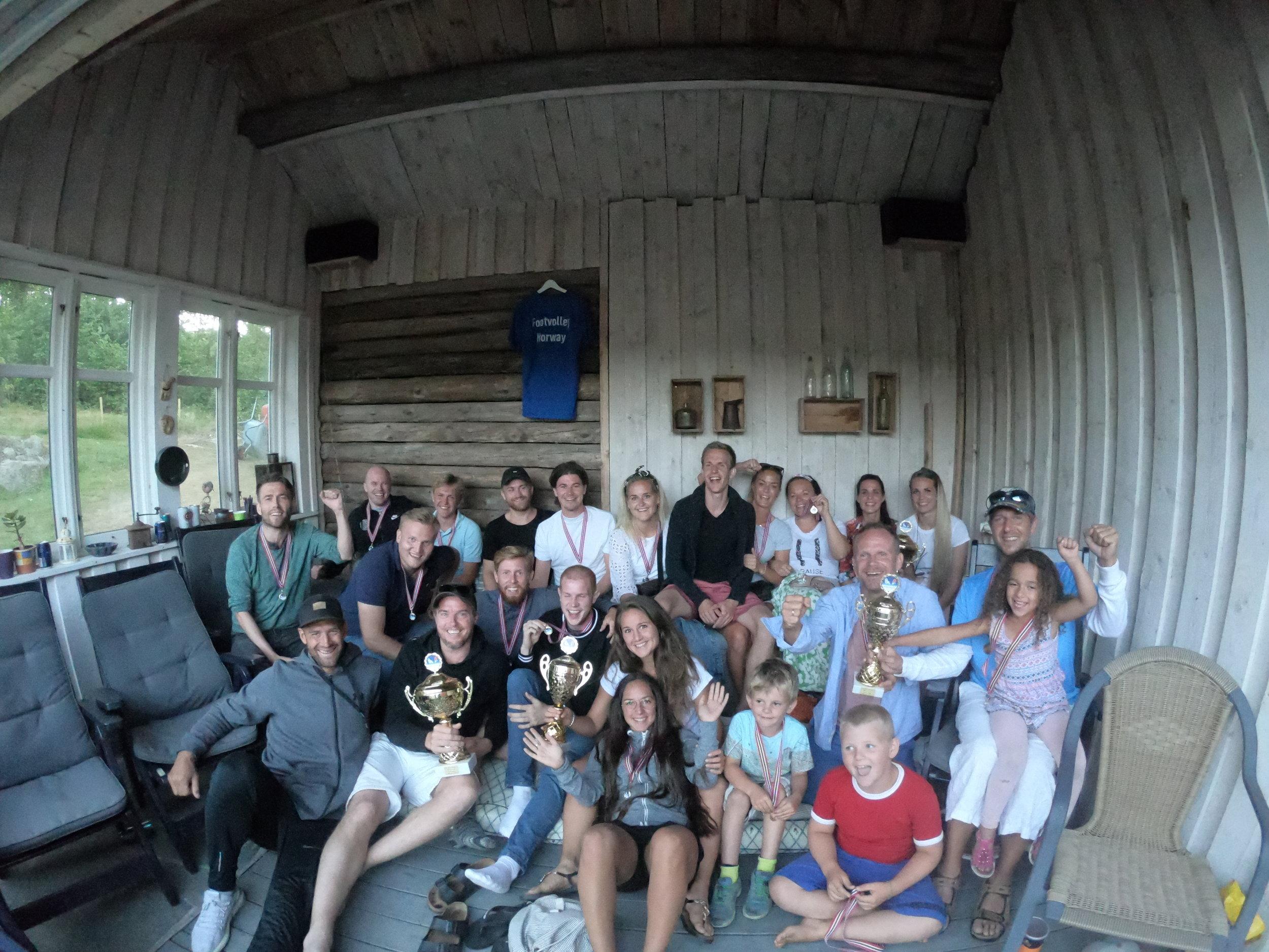 Banquet og premieutdeling hos familien Henanger Haven