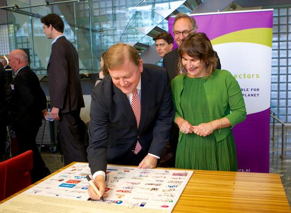 On September 30, 2014 60+ businesses NGO's, knowledge institutes, (local)governments, financial institutions and philanthropists signed the SDG Charter