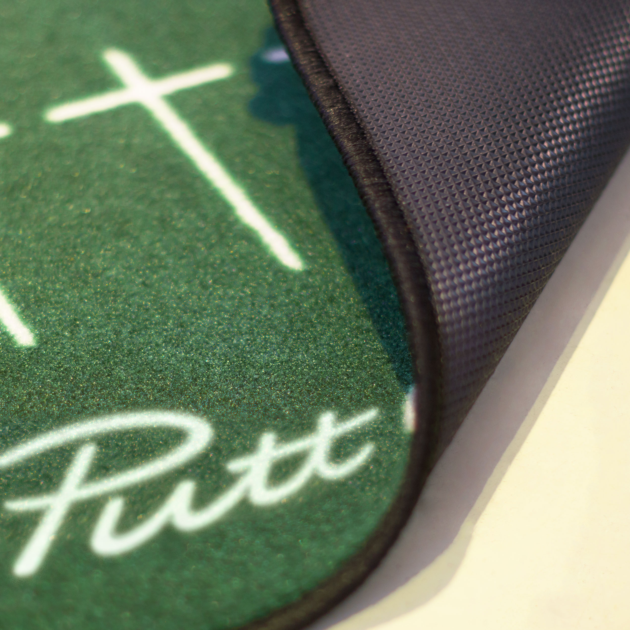 Rolls Flat - With extra-thick TPR rubber backing, this mat rolls flat straight out of the packaging, giving a consistently smooth and reliable roll, allowing you to focus on making your stroke the best it can be.