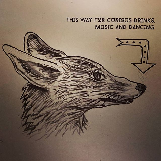 This beautiful fox is never seen, she is in the wrong stairwell, bless her. . . . #Art #FoxArt #TheCuriousFox #Drinks #Music #LondonBar #StratfordBar #BasementBar #London #Uk #Party #AfterParty #Dancing #Paintings #Beautiful #Positive #Love #Life #Happy #GoodVibes #GoodTimes