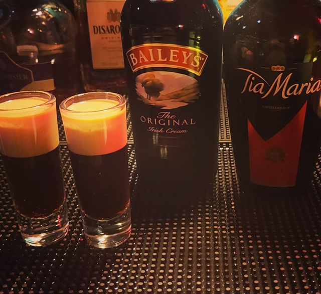 Some call them Jam Donut, I call them Baby Guinness, What do you call them?. . . . #BabyGuiness #JamDonut #Shots #Party #PartyShots #Dancing #LondonBar #Stratford #Alcohol #Baileys #TiaMaria #Drinking #GettingDrunk #Fridays #AfterParty #Liquor #Liquours #Creamn#Guinness