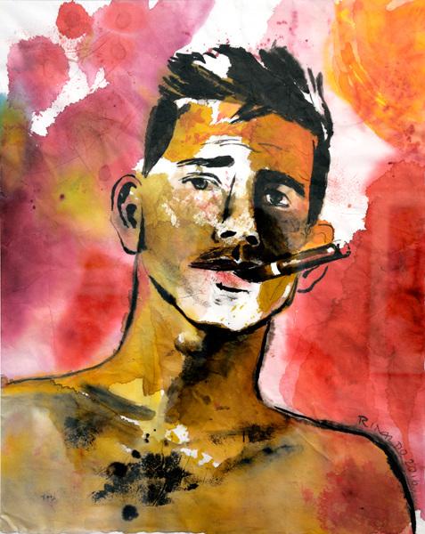 Oswaldo con cigarro