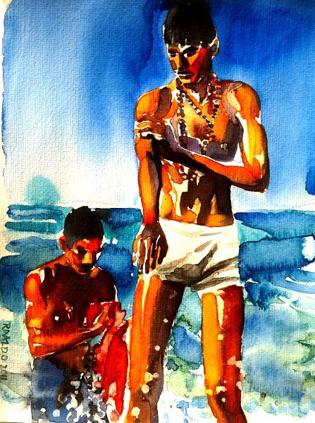 TWO MEN ON THE BEACH