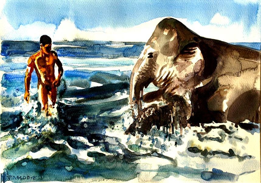 Elephant Bath #3