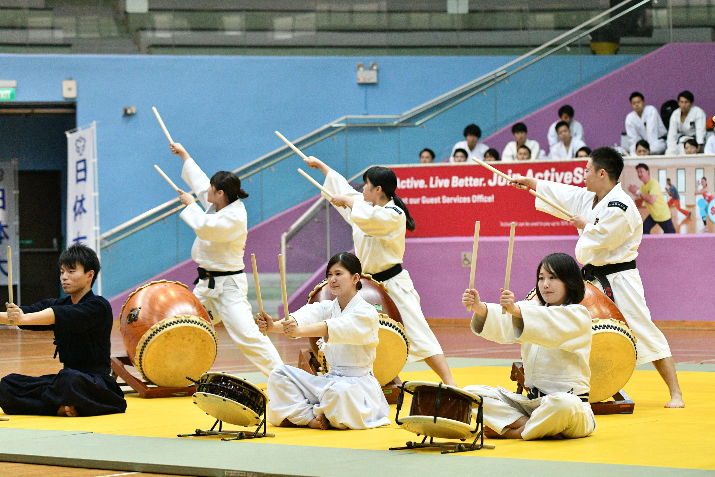 Opening ceremony by the Wadaiko, Japanese drum performance.