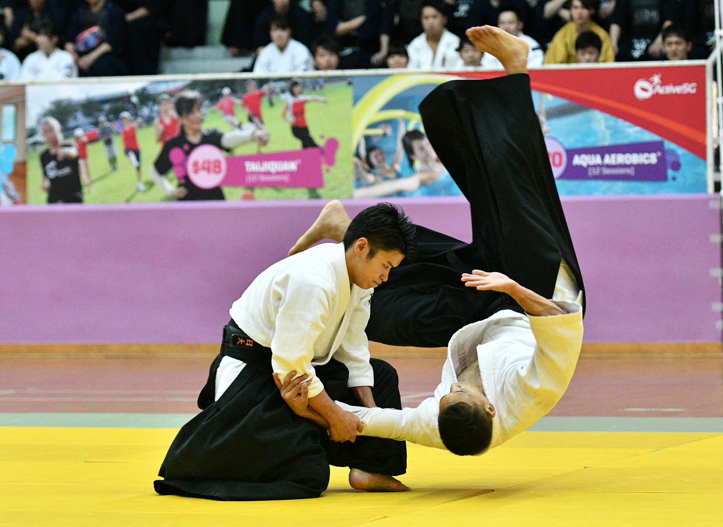 The Aikido segment, one that I was watching very closely.