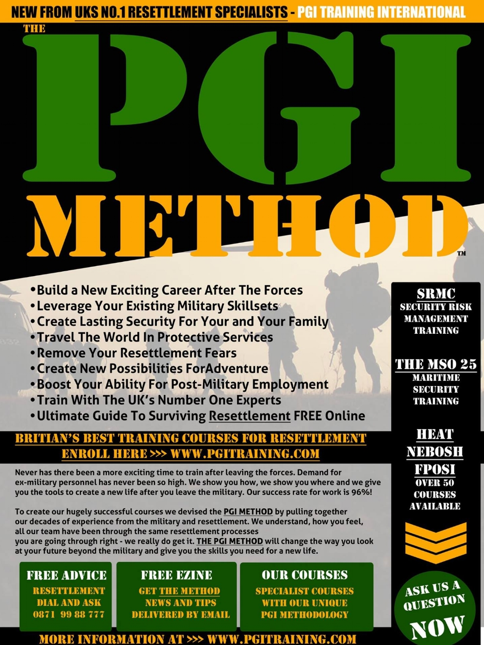 This Approach Steps Deeply Into An Existing Conversation Based On Future Fears - This succesful Ad took a unique approach to post-army careers by creating an exciting adrenaline filled future rather than just another boring training program. It did it's job well.