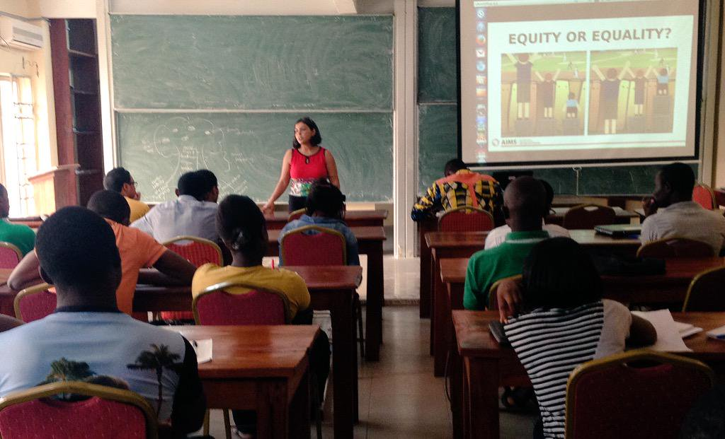 DELIVERED TRAINING ON APPLYING A GENDER LENS TO STEM INNOVATIONS TO AIMS MATHEMATICS STUDENTS LIMBE, CAMEROON (2015) -