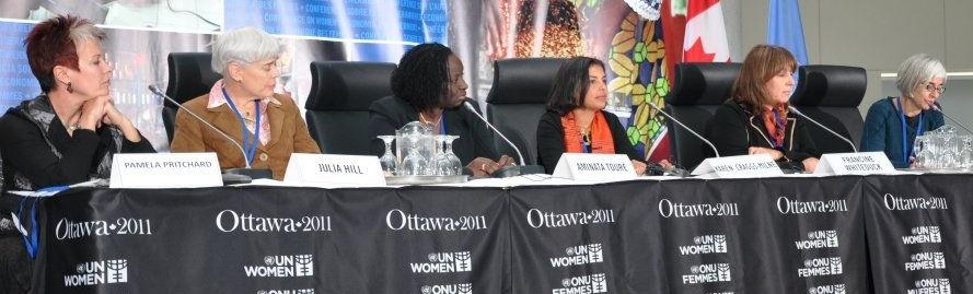 RAPPORTEUR AT CIDA-UN WOMEN ECONOMIC EMPOWERMENT CONFERENCEOTTAWA, CANADA (2011) -