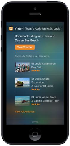 Viator's iOS 8 Today Feature iPhone Widget