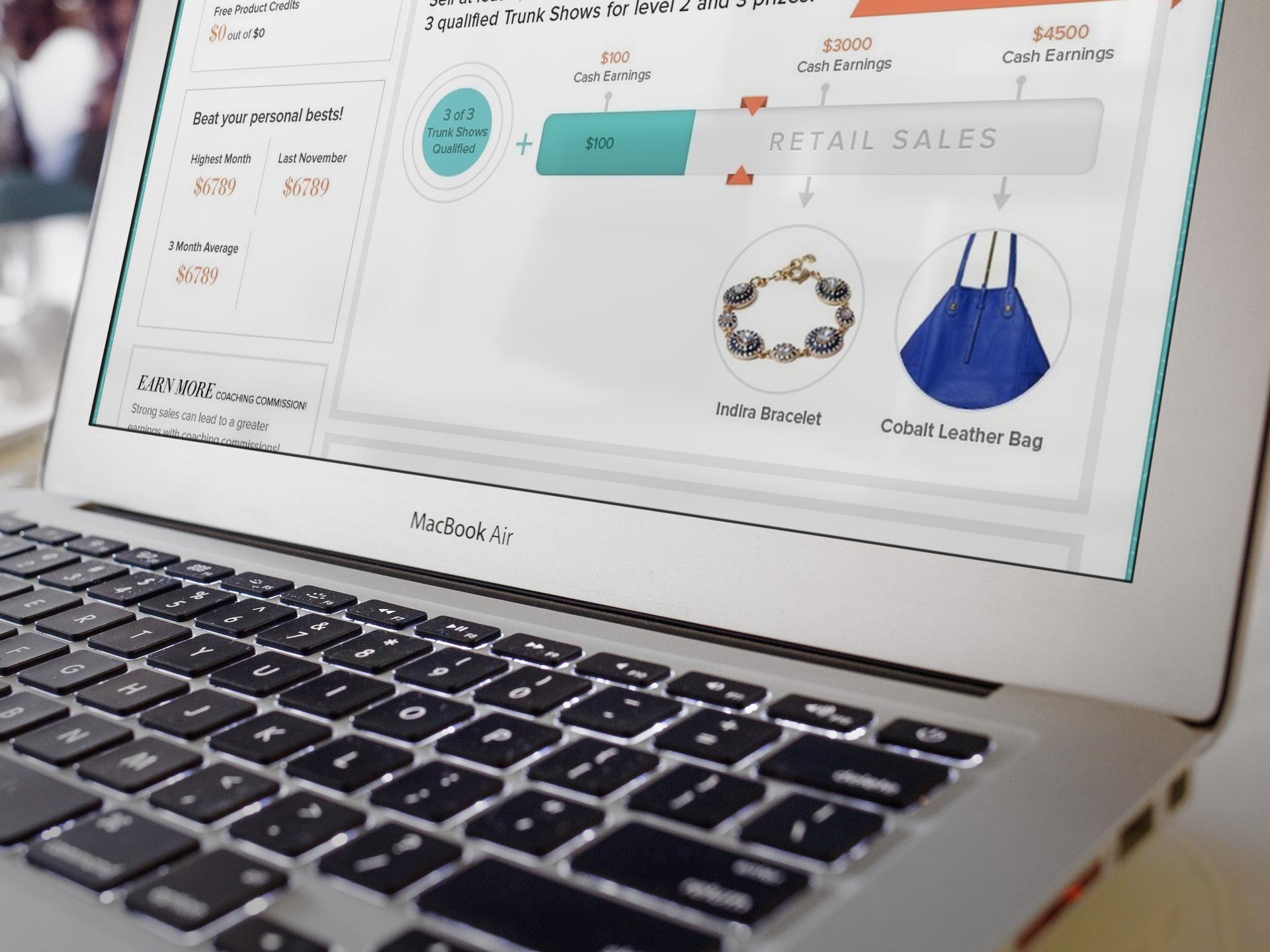 Stella & Dot User Dashboard - Detail