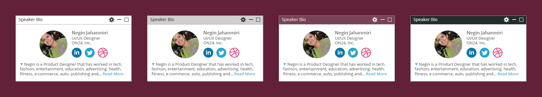 ON24 Platform 10 Speaker Bio Widget