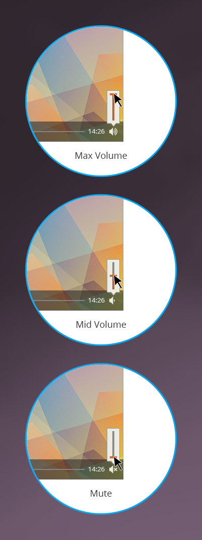ON24 Platform 10 Media Player Widget - Volume Controller Stages