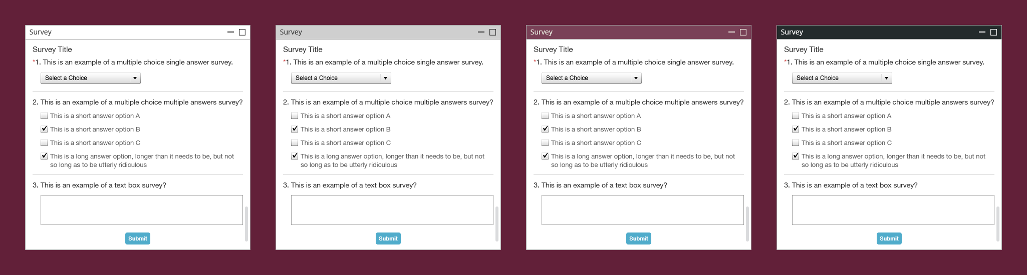 ON24 Platform 10 Survey Widget