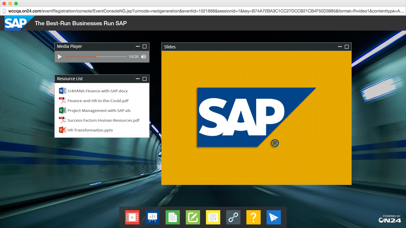 ON24 Platform 10 SAP's On Demand Webinar