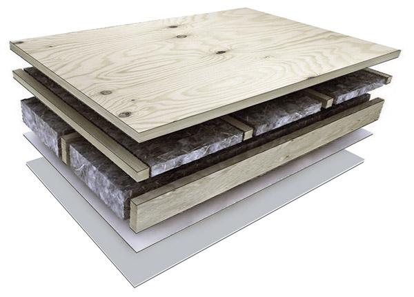 ".... FLOOR PANEL .. GRĪDAS PANELIS ....   .... Deep-impregnated bottom header-joist with sealing and waterproofing layers (Tyvek)  Wind barrier: wind gypsum boards trimmed with wind tapes (SIGA, ProClima or Tyvek)  Wooden frame: 145mm, 195mm or 220 mm thick material with respective thermal insulation  Cross-lathing: 45mm wooden structure with 50mm extra insulation  Vibration damping (absorbing) spacer tape  The top layer: 22mm thick OSB or Durelis Floor TG4 particle board with a four-way spill  ..                        Normal    0                false    false    false       EN-US    X-NONE    HE                                                                                                                                                                                                                                                                                                                                                                                                                                                                                                                                                                                                                                                                                                                                                                                                                                                                                                                                                                                                                                                                                                                                                                                                                                                                                 /* Style Definitions */ table.MsoNormalTable {mso-style-name:""Table Normal""; mso-tstyle-rowband-size:0; mso-tstyle-colband-size:0; mso-style-noshow:yes; mso-style-"