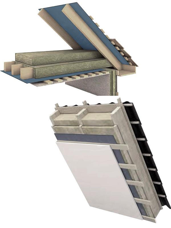 .... ROOF SOLUTIONS .. JUMTA RISINĀJUMI ....   .... Roofing: Bitumen shingles, Rannila sheets or Tiles layer  Interlayer: 30 mm solid rock wool, lathing 45mm or 18mm OSB boards (depending on the roofing material)  Wind membrane: Tyvek or Rothoblaas  Wood construction: Roof rafters or pre-fab roof trusses of 145mm, 195mm or 220mm (depending on the load characteristics)  Insulation: At least 300 mm (depending on the building operation type). This insulation is provided when designing a roof panel or insulating a non-residential loft covering  Vapour barrier: A special vapour diffusion membrane (Tyvek Supro Plus)  Cross-lathing: 45 mm wooden laths with 50mm extra insulation  Ceiling finish: 12.5mm plasterboard  Achievable U-value from 0.12 W/m²K  ..                        Normal    0                false    false    false       EN-US    X-NONE    HE                                                                                                                                                                                                                                                                                                                                                                                                                                                                                                                                                                                                                                                                                                                                                                                                                                                                                                                                                                                                                                                                                                                                                                                      