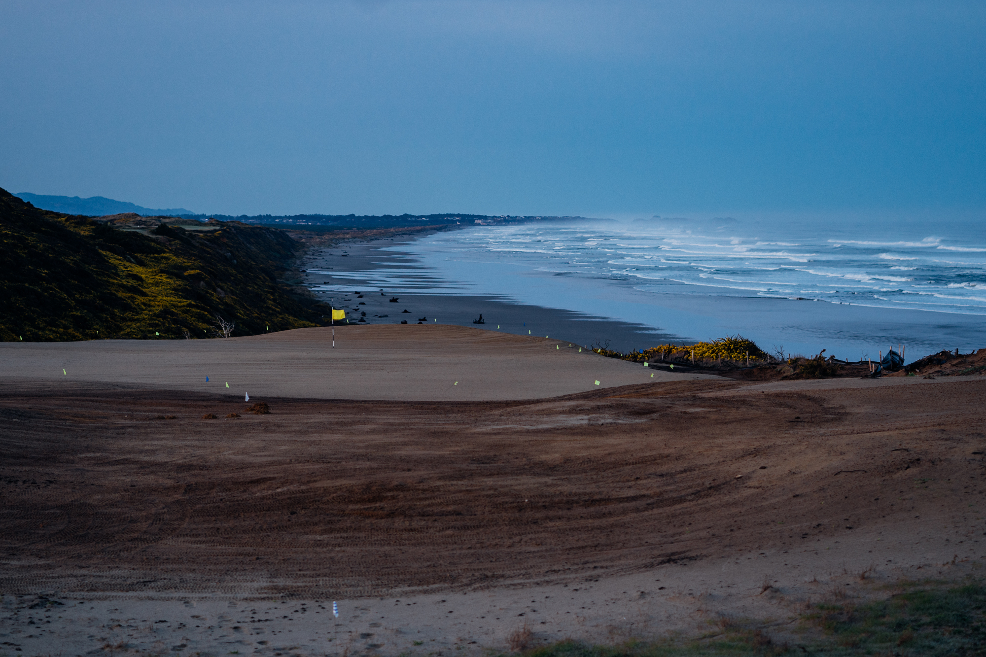 A new green site takes shape overlooking the rest of Bandon Dunes Golf Resort.