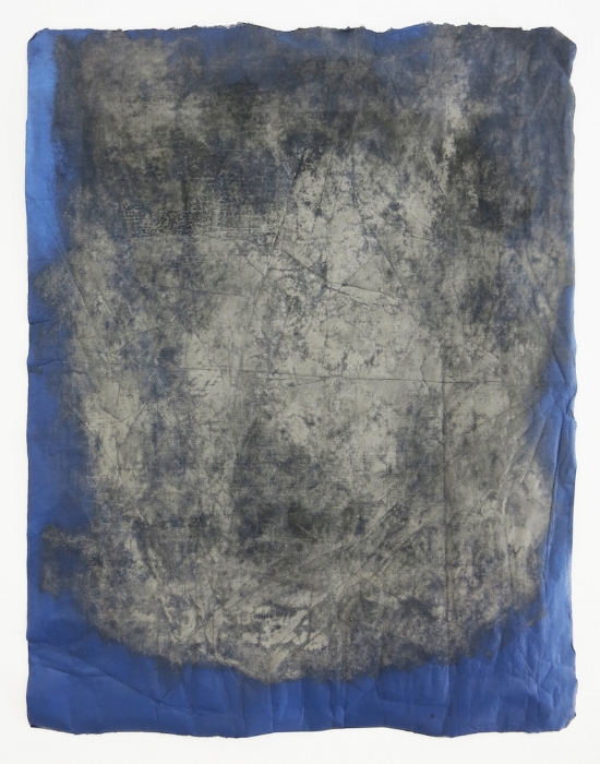 Fistful of Dirt,2014   Monoprint and pulverized Icelandic igneous stones. 25 x 19 inches.