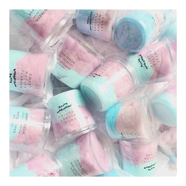 COLLABORATION • To help launch @johnfriedauk new Weightless Wonder collection we created two bespoke flavours. Matching their new cool packaging. Such a fun project to work on 💙💜 #weightnomore #bespoke #collaboration #johnfreida #sweetmotherfluffer #candyfloss #cottoncandy #launch #newcollection