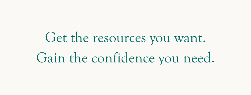 resources and confidence