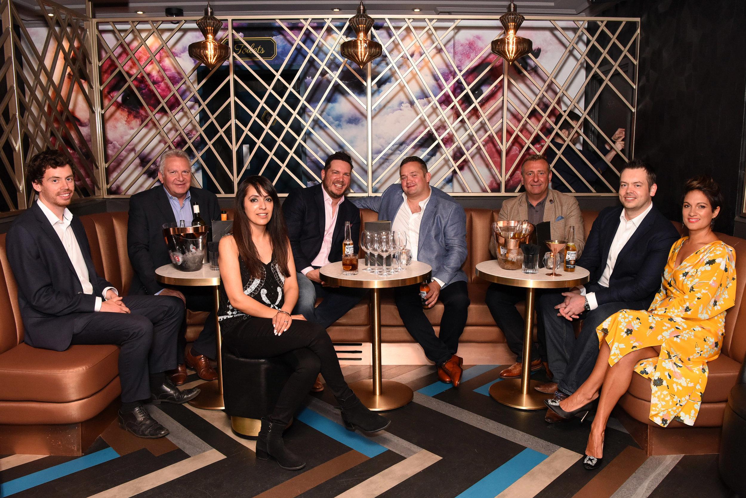 18 Alastair Burgwin, Paul Sambrooks, Mandip Sandhu, Chris Warren, Daniel Le Neveu, Adrian Griffiths, Andy Warren and Fiona Hooton.JPG