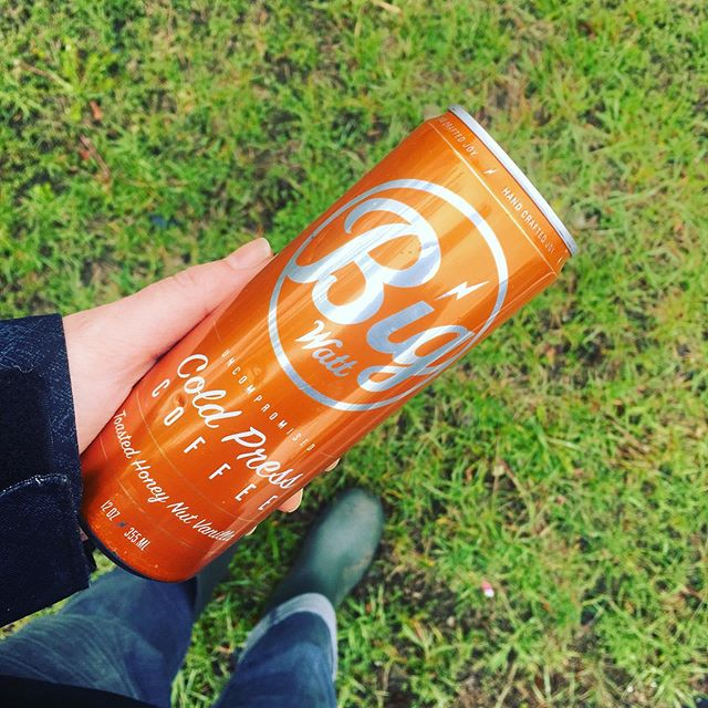 Maker life can be hard sometimes. Left the warm bed early today to head out into the rain and cold - and mud - knowing shoppers would largely stay home. And they did. But then who comes around the corner to boost the spirits of our little troop? @bigwattcoffee Thanks for the super tasty Toasted Honey Nut Vanilla Cold Pressed and the acknowledgement that it was a hard day for us. You made it brighter. #peoplefocusedbusiness #coldpressedcoffee #makerlife #lindenhillsfestival #doinggood #itsthelittlethings