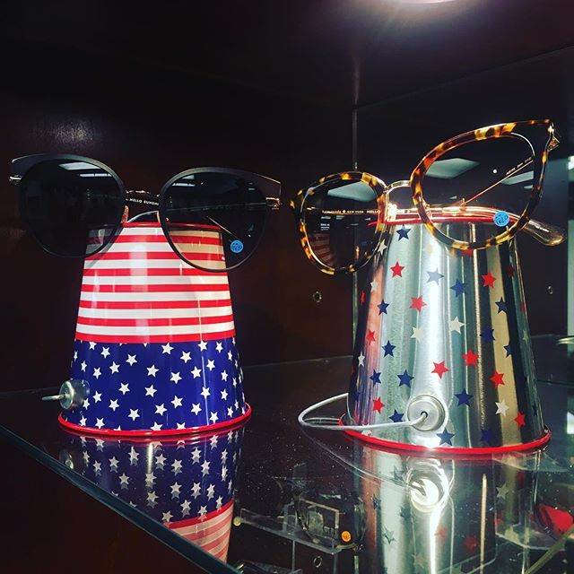 Happy 4th of July!!🎆🎇🇺🇸 Hoping for a sunny day for the barbecue. Don't forget you sunglasses! #sunglasses #fourthofjuly #optometrist #opticalshop #miami #bbq #katespade #eyewear #beach #eyewearfashion #sun #fun #fireworks #flag #indepenceday