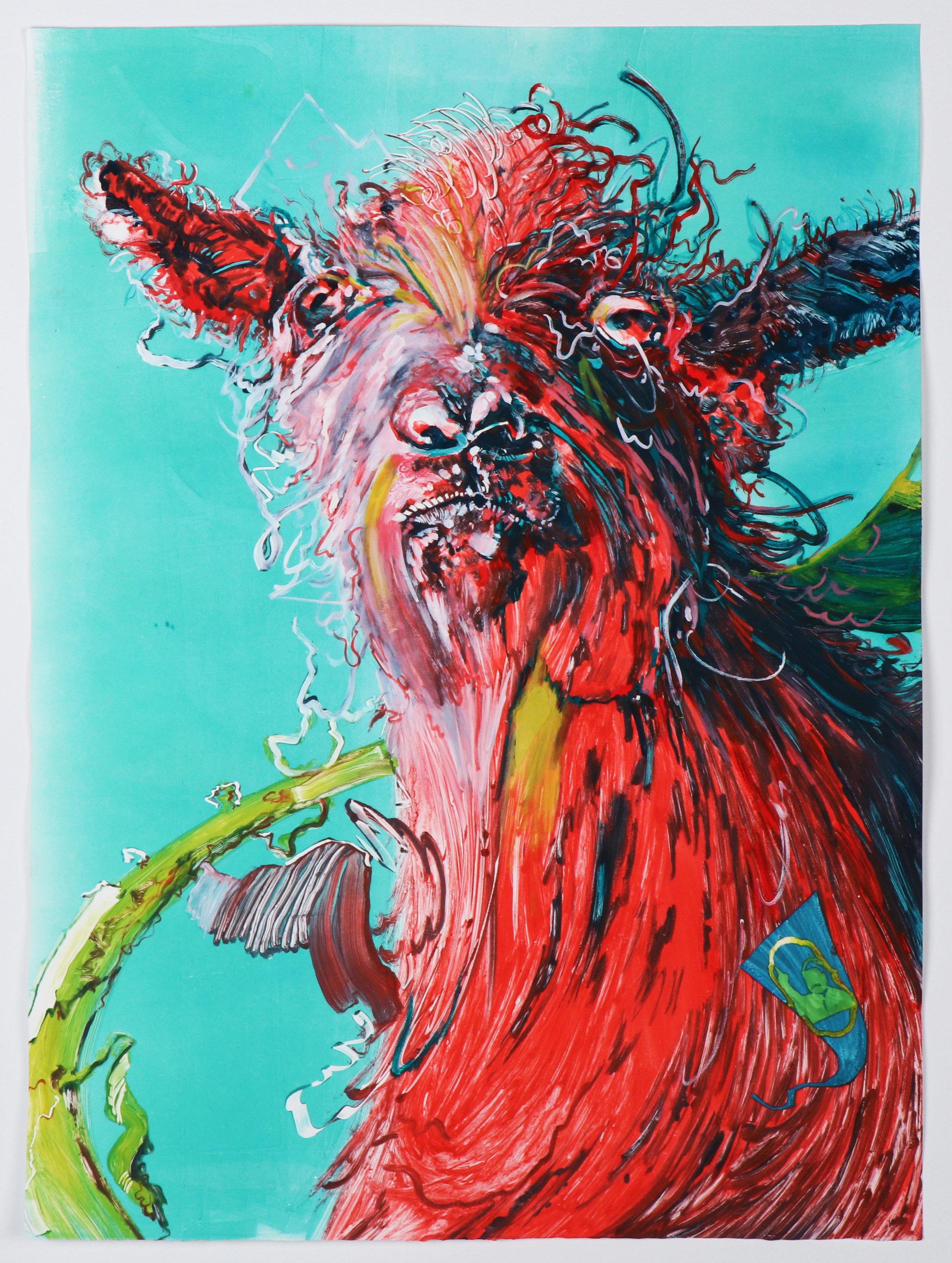 Aadu (goat/dance) portrait