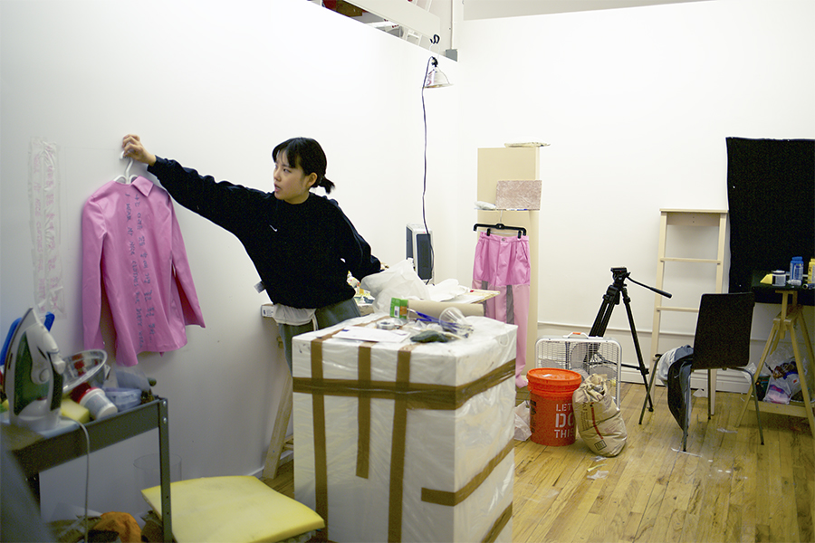 Sujung Chang in the studio