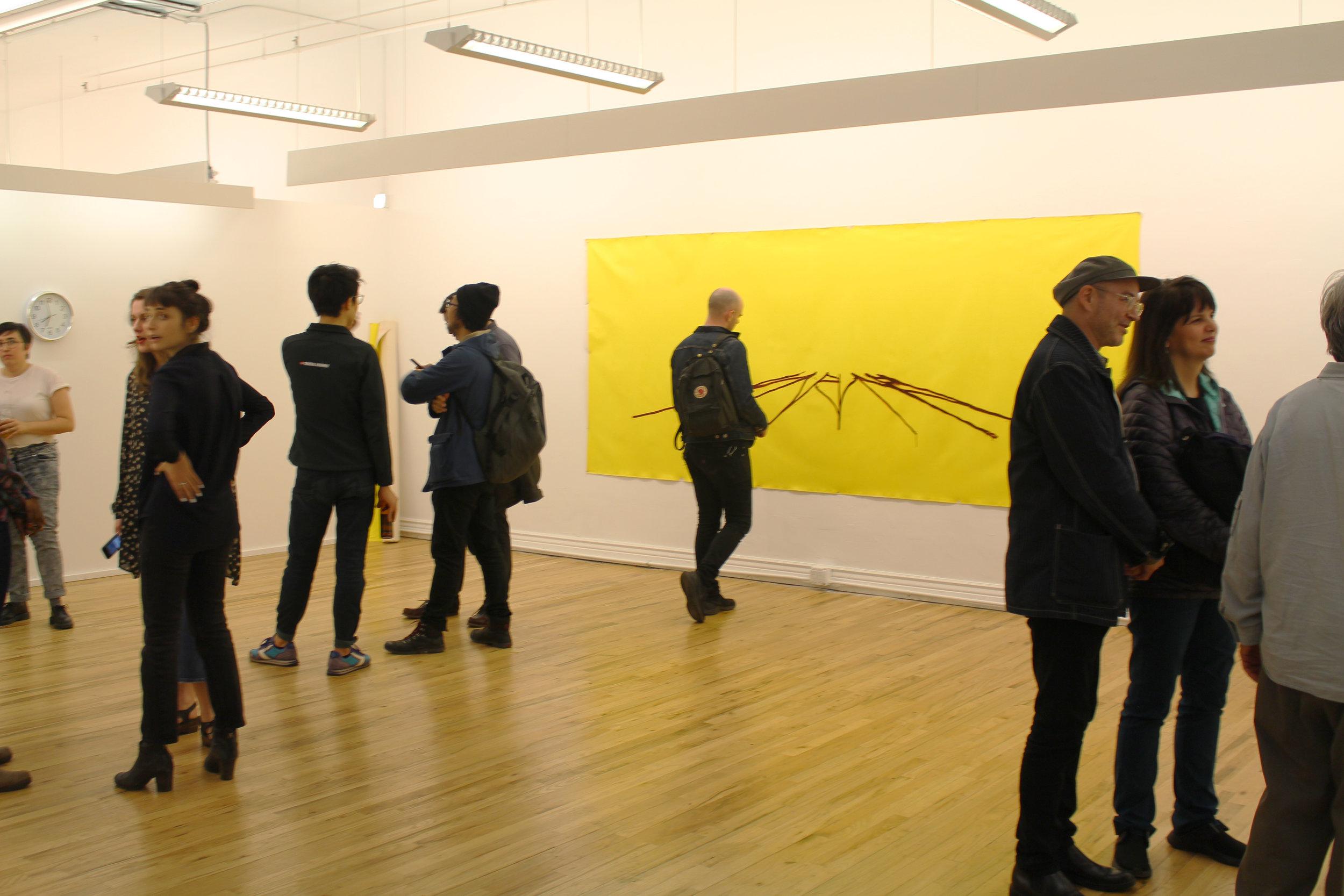 "Viewing Anton Varga's work, ""In the offing"""