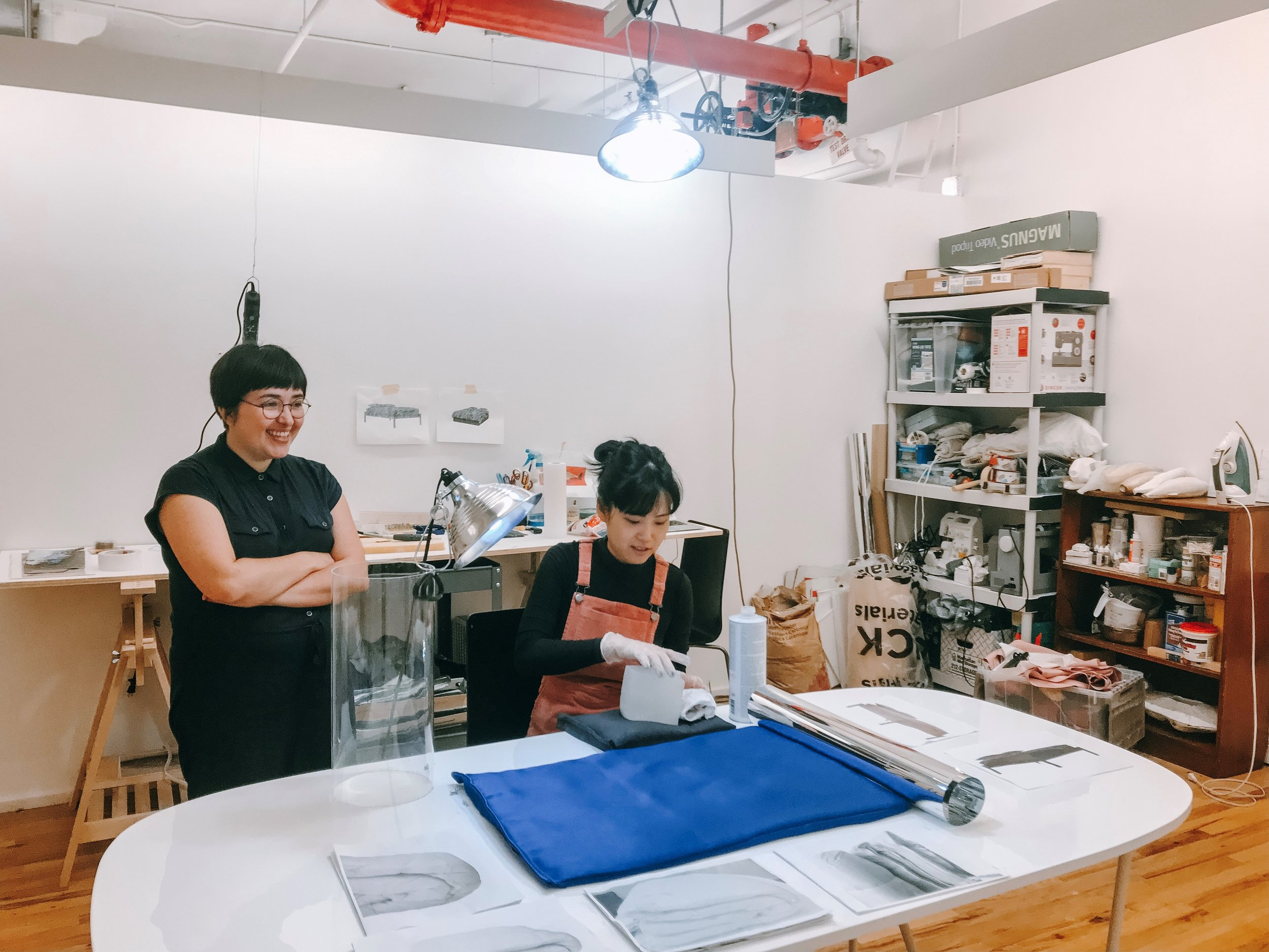 Cati Bestard and Sujung Chang, Open Studios 2019