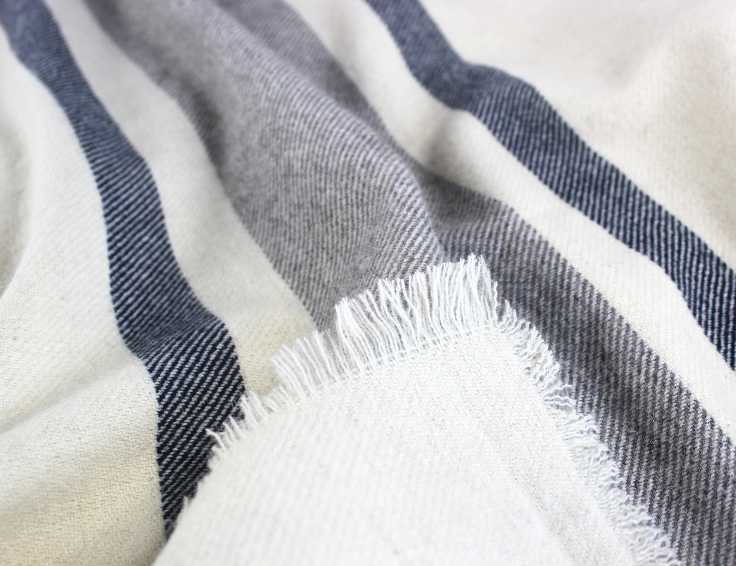 Woodland Stripe Wool Blend Blanket_Natural_Detail 2.jpg
