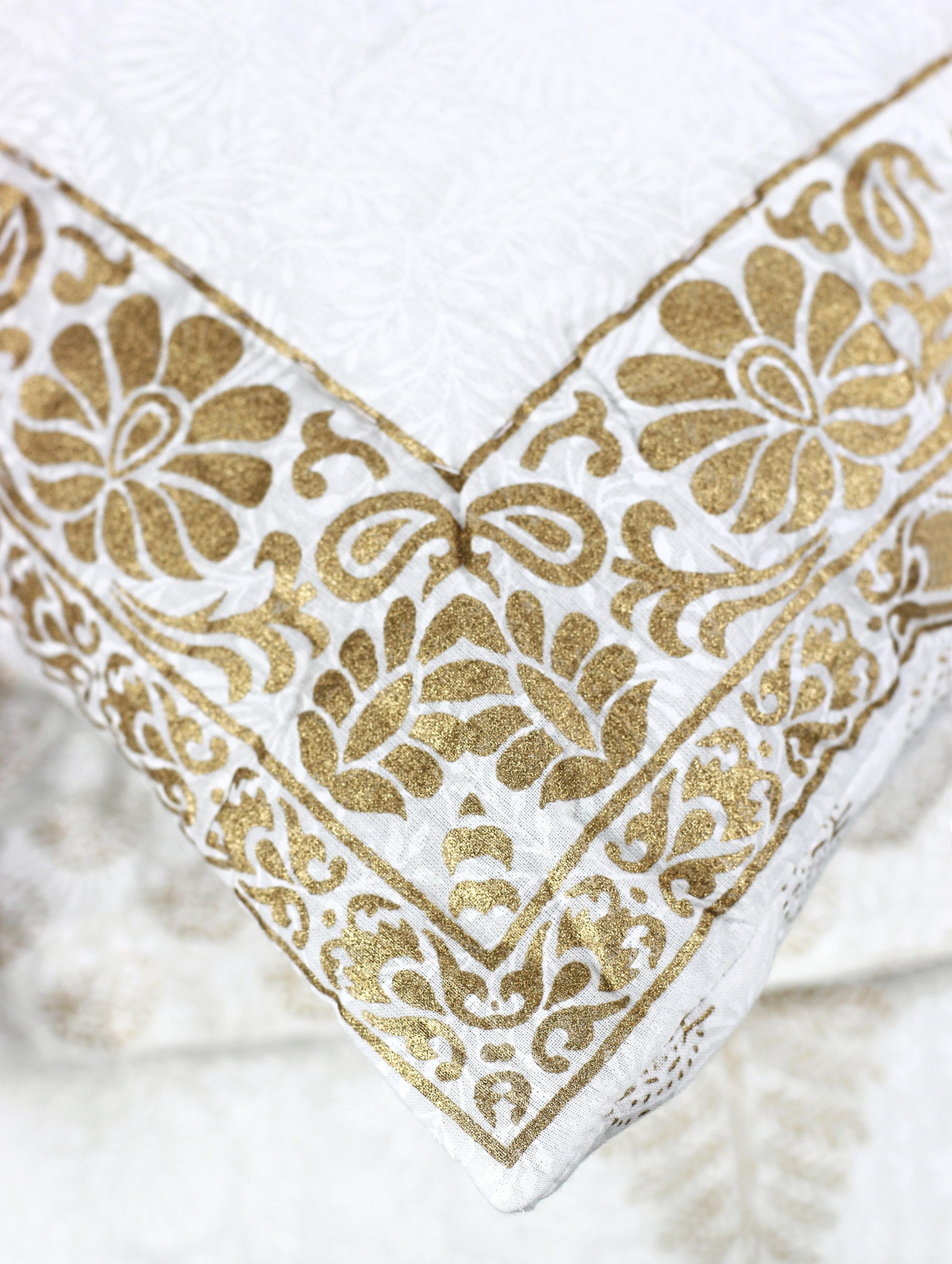 Leaf Voile Quilt Set_Gold_Detail.jpg