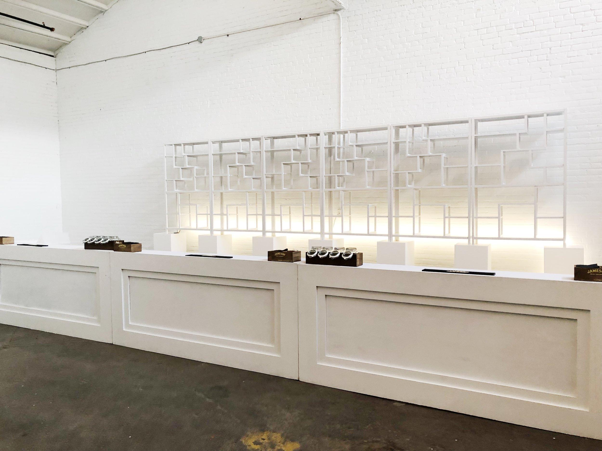 - 24-foot-long custom bar