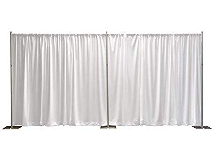 - 16 ft tall white PIPE AnD DRAPE100 FT available