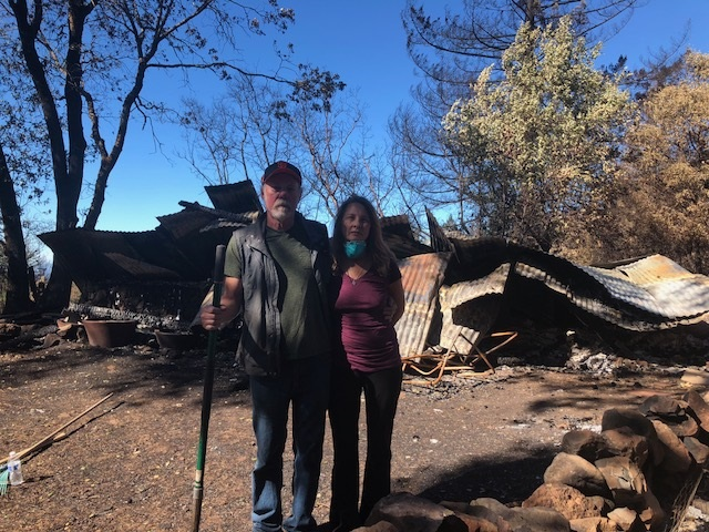 Maurine & Dan post fire