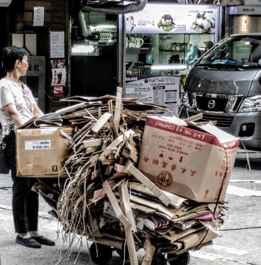 Hong Kong street life, 2017.