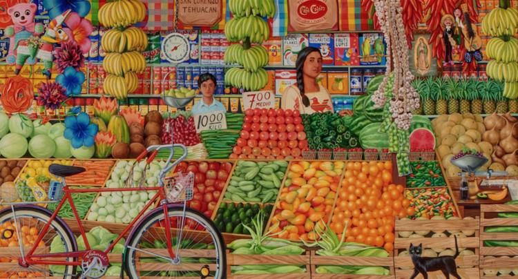 El Mercado Juarez by Hal Marcus installed at El Paso Children's Hospital