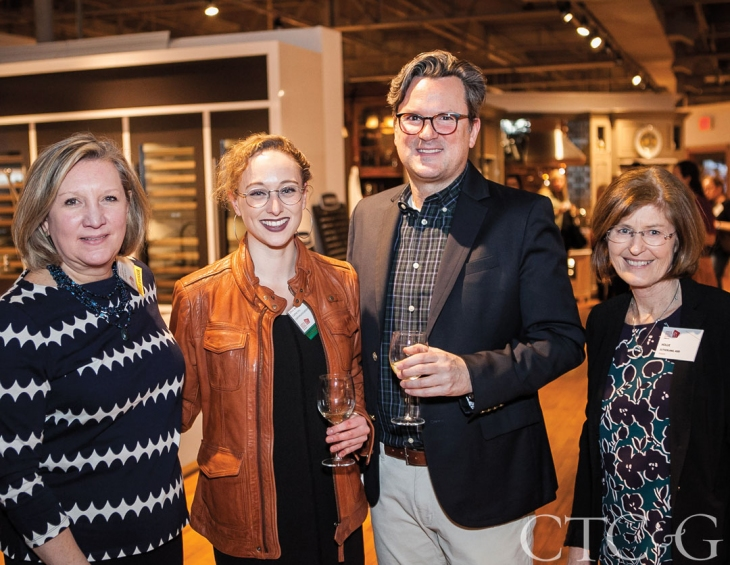 Ellen (2nd from left) at the ASID CT Design Matters event. February 2017.   Photo Courtesy of Paul Bickford for Landinophoto. As seen in Cottages & Gardens CT.
