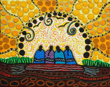 Indigenous Midwifery: Ancestral Knowledge Keepers 2015  Artwork by: Leah Dorion