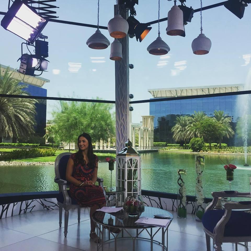 Noor Bahjat's interview on Dubai TV's show (دبي هذا الصباح) - 2015-Clip