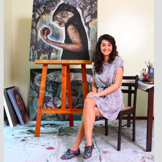 Syrian Artist Noor Bahjat in gallery stephanie - Press reader - 2016-Article